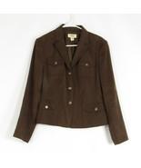 Brown faux suede TALBOTS blazer jacket 10 - $34.99