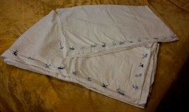 Pottery Barn Kids Twin Size Duvet Cover And Top Sheet Blue Whales - $18.69