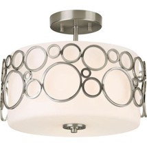 Progress Lighting P3741-09 Bingo Semi Flush Mount Light Brushed Nickel - $103.95