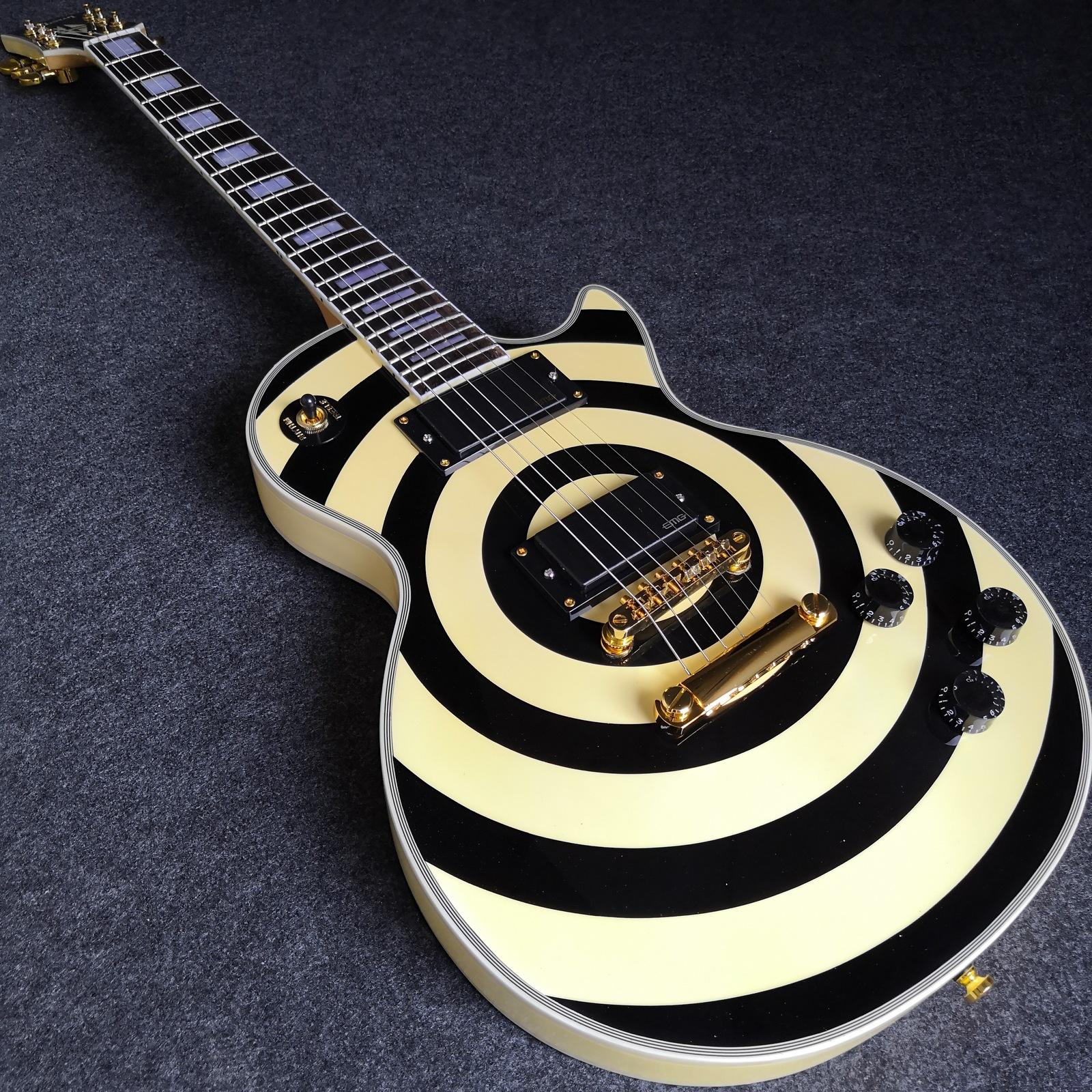 zakk wylde lp custom bullseye guitar reproduction acoustic. Black Bedroom Furniture Sets. Home Design Ideas