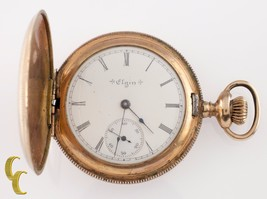 Elgin Grade 206 Double Hunter Gold Filled Pocket Watch 7 Jewel Size 6s 1903 - $222.75