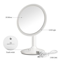 TOUCHBeauty Personal 5X Lighted Makeup Mirror 90 Degree (5X Makeup Mirror) - $44.44