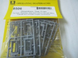 American Limited # 8506 Operating Diaphragms For Streamliners Gray N-Scale image 2