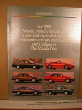 Catalog/advertising Booklet Mazda 1988 - $8.99