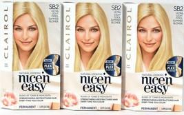 3 Clairol Nice N Easy Repair Plex SB2 Ultra Light Cool Summer Blonde Hai... - $26.99