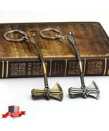 US! Avengers 3 Infinity War Thor Stormbreaker Axe Hammer Weapon Keychain... - $14.00+