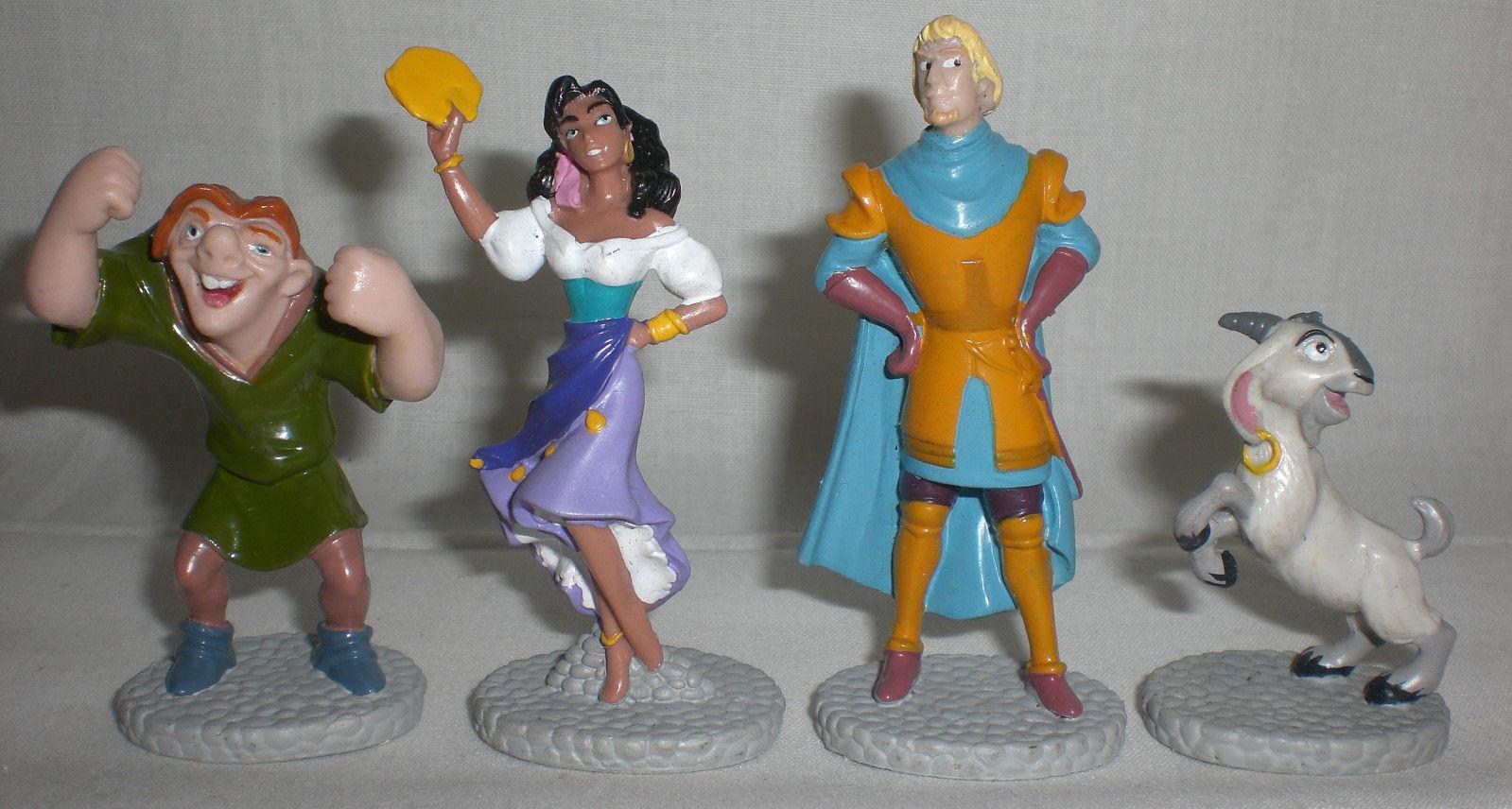 Disney Hunchback of Notre Dame Figures Quasimodo Esmeralda Phoebus Djali 16 Lot