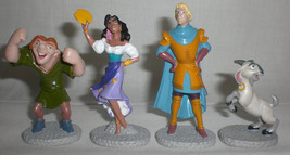 Disney Hunchback of Notre Dame Figures Quasimodo Esmeralda Phoebus Djali... - $16.79