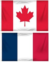 ALBATROS 12 inch x 18 inch France French with Canada Canadian Flag Gromm... - $47.30
