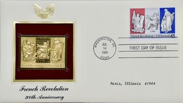 1989 P.C.S. French Revolution - 200th Anniversary Stamp First Day Issue ... - $19.99