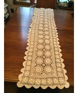 Vintage hand made crocheted table runner  - $20.00