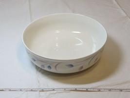 Mikasa Satin Ivory K7001 Andrea Japan Serving Bowl off white blue lavender - $39.71