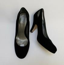Ann Taylor Loft Womens Shoes Pumps Heels Velvet Fabric Upper Black Size US 7 M - $29.65