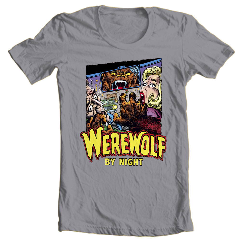 Werewolf by Night T Shirt retro 70s marvel comics Legion of Monsters graphic tee