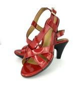 Eurosoft Sofft Vanda Red Patent 7.5 M Heel Sandal Strappy Platform Shoe - $59.39