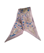 St. Germain Silver 100% Silk Twilly Scarf Citiscape Luxury Scarves Purse... - $48.73 CAD