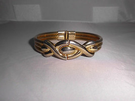 VTG Gold Tone Infinity Hinge Closed Bangle Bracelet - $19.80