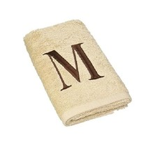 "NWT AVANTI Linen Block Monogram ""M"" M Egyptian Cotton Hand Guest Towel 1... - $17.81"