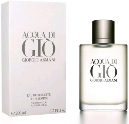 Acqua Di Gio By Giorgio Armani Eau De Toilette Pour Homme 6.7 oz / 200 ML Sealed
