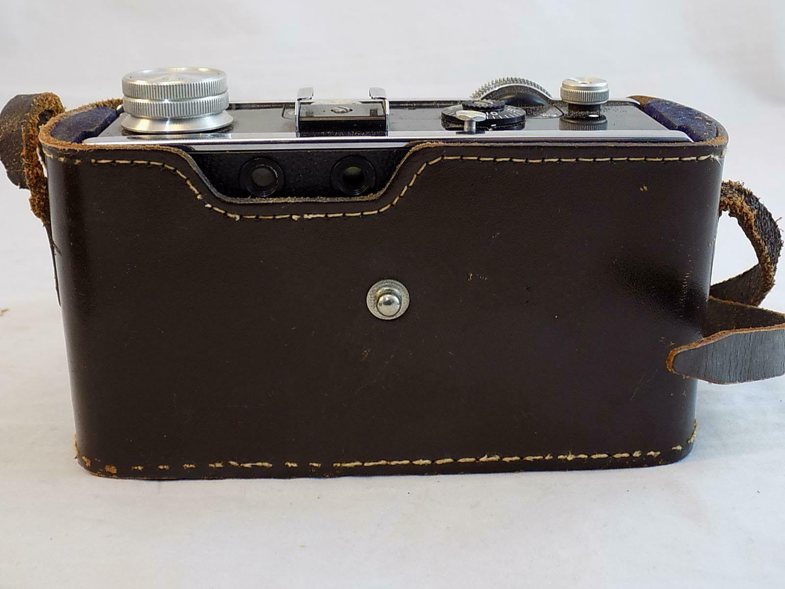 ARGUS C3 CAMERA 1955 VINTAGE 50m COLOR-MATIC W/COATED CINTAR LENS & LEATHER CASE