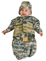 Newborn Solider Bunting  Halloween Costume Size 0-9 Months - $19.00