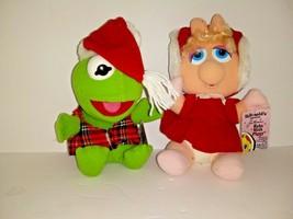 Vintage McDonalds Baby Miss Piggy Baby Kermit Plush Dolls Muppet Babies ... - $19.79