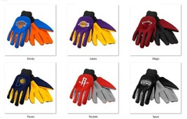 NBA Colored Palm Utility Gloves by Forever Collectibles -Select- Team Below - $9.95
