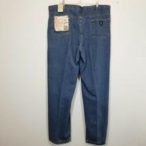 REAL WORK WEAR Mens Blue Jeans Size 46x34 Cotton Straight Leg Denim Pant... - $25.30