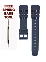 Compatible Casio W-87 19mm Black Rubber Watch Strap CAS118 - $14.83