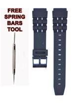 Compatible Casio W-87 19mm Black Rubber Watch Strap CAS118 - $14.83