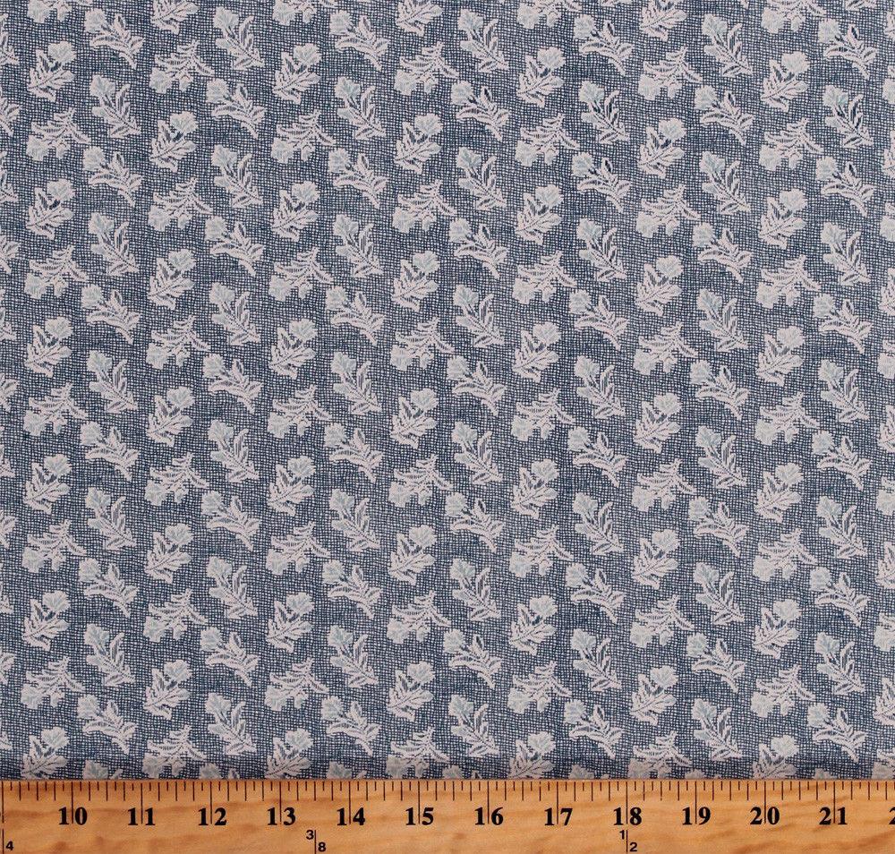 Something Blue Edyta Sitar Flowers Floral Cotton Fabric Print by Yard D379.33