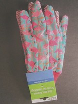 NEW Garden Collection Pink Flamingo Garden Gloves One Size Fits Most Gri... - $8.66