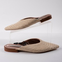 Zara Womens Braided Mules Flats Size 6.5 Eu 37 Ecru Pointed Toe 3536/301 NWT - $59.39