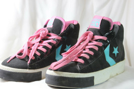 VINTAGE CONVERSE STEAL THE SHOW PRO HIGH-TOP RETRO SHOES BLACK SIZE 6.5 ... - $19.93