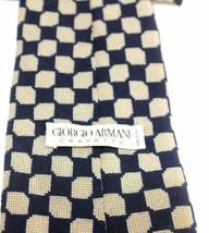 100% Authentic GIORGIO ARMANI CRAVATTE Navy Blue 100%SILK Necktie Made i... - $90.29