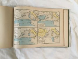 Antique Hardcover 1874 Historical Atlas 100 World Color Maps Labberton image 12