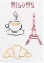 DMC Magic Paper Pre-Printed Needlework Designs-Paris - Cross Stitch - $11.45