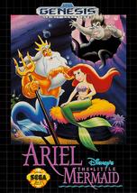 Ariel The Little Mermaid Sega Genesis Video Game - $18.97