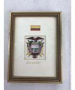 """Ecuador Flag 5""""x7"""" Frame. Viva Quito , Ecuador!! - $14.03"""