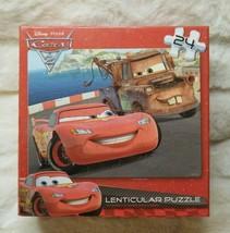 Disney Cars Lenticular Puzzle 24 Peices NIP Sealed. 12 X 9 inches. - $9.40