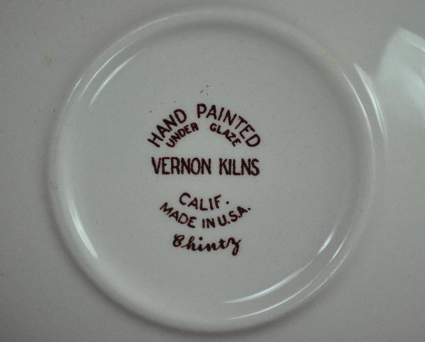 Metlox Vernon Kilns Chintz Rimmed Fruit Dessert Sauce Bowl
