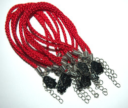 Kabbalah 10 pcs Lot Red String Hamsa Mazal Shema Lucky Charm Evil Eye Bracelet image 3