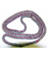 Art Deco Vintage Glass Seed Bead Necklace Cord Style  - $7.50