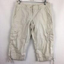 LOFT Ann Taylor Women's Beige Light Khaki Culotte Capri Pants Size 4 Petites - $23.30