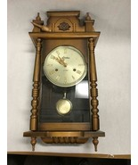Vintage Linden 31 Day Wind Up Pendulum Chime Wall Clock No. 8052 w/Key - $227.69