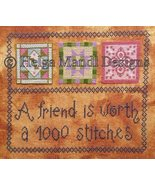 A Friend Is Worth friendship PDF cross stitch charts Helga Mandl  - $7.00