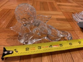 4 Waterford Crystal figurines Cross and 3 large angel playing music instruments  - $207.90