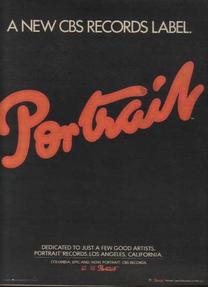 * 1976 PORTRAIT LABEL CBS RECORDS PROMO AD