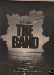 * 1977 THE BAND ISLANDS POSTER TYPE PROMO AD