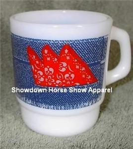 Anchor Hocking FireKing Fire-King Blue Jean USA Mug